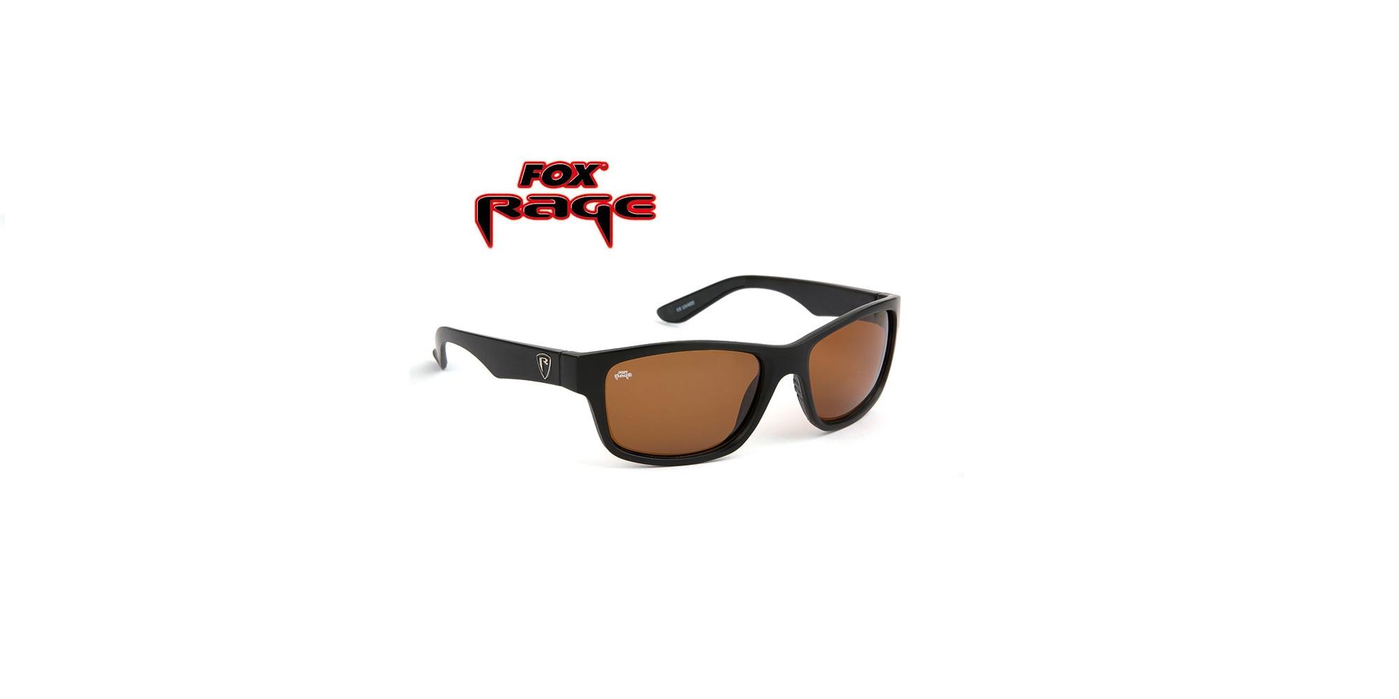 Occhiali da sole Fox Rage Eyewear MattBlack Lenti marroni cod NSN001
