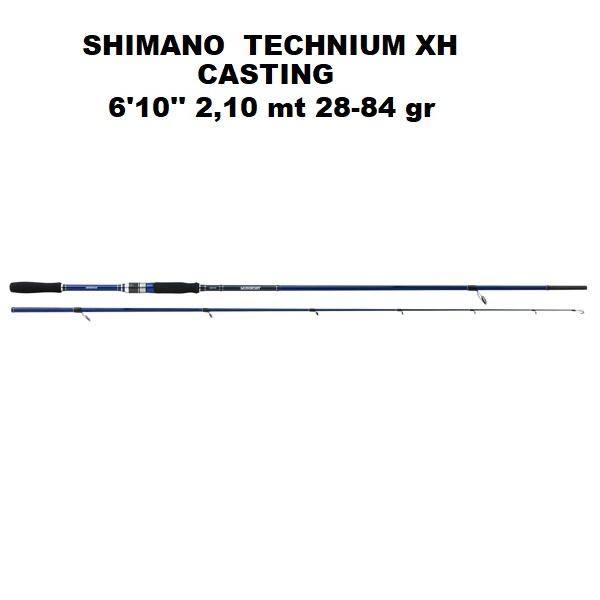 Canna Shimano Technium Casting 6'10''  2,10 mt 28-84 gr XH   CTEC610XH
