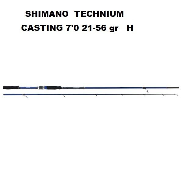 Canna Shimano Technium Casting 7'10''  2,13 mt 21-56 gr H   CTEC70H