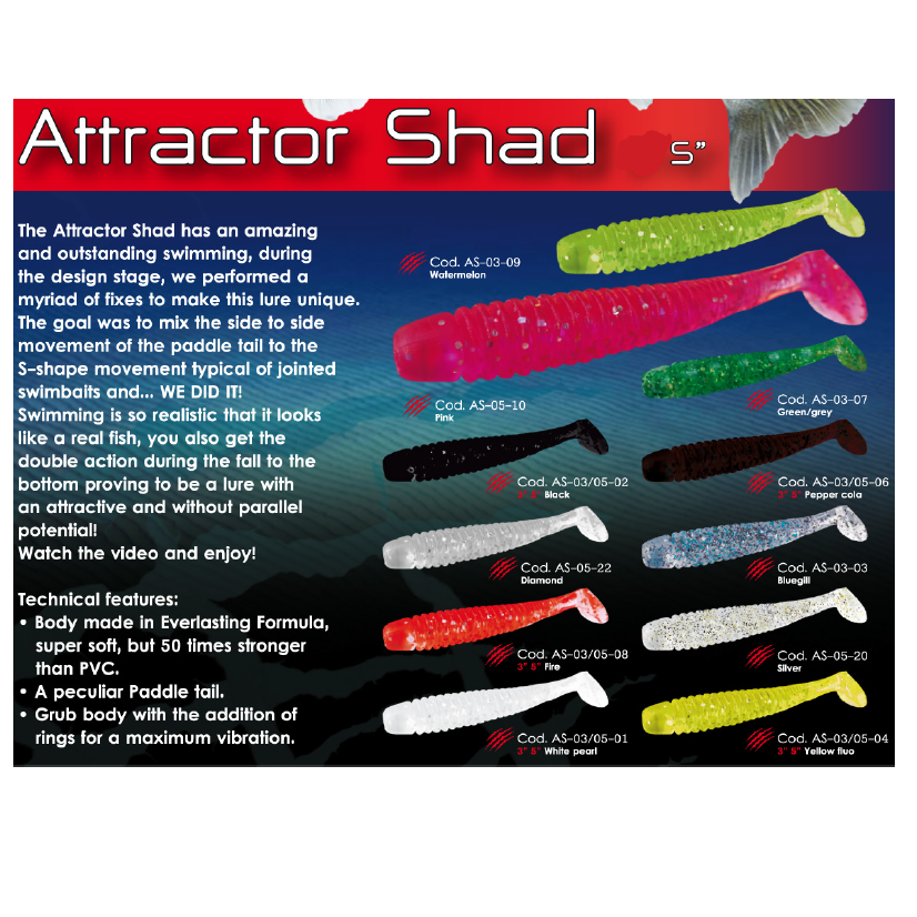 Esca Fish Action Attractor Shad 5