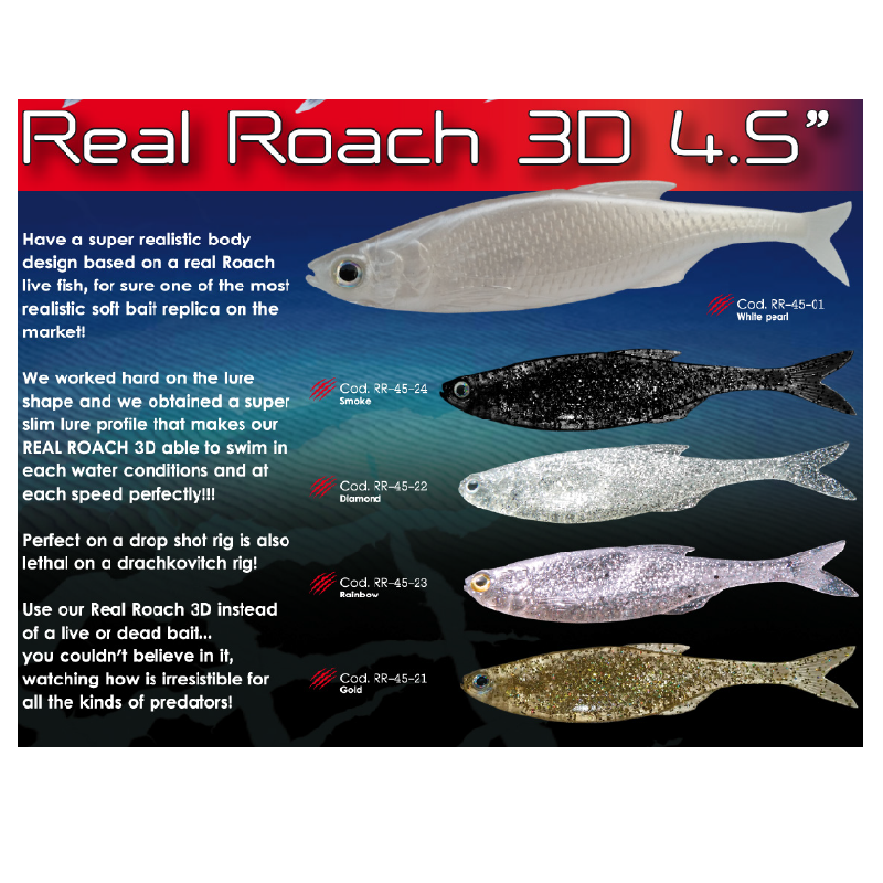 Esca Fish Action Real Roach 3D 4,5