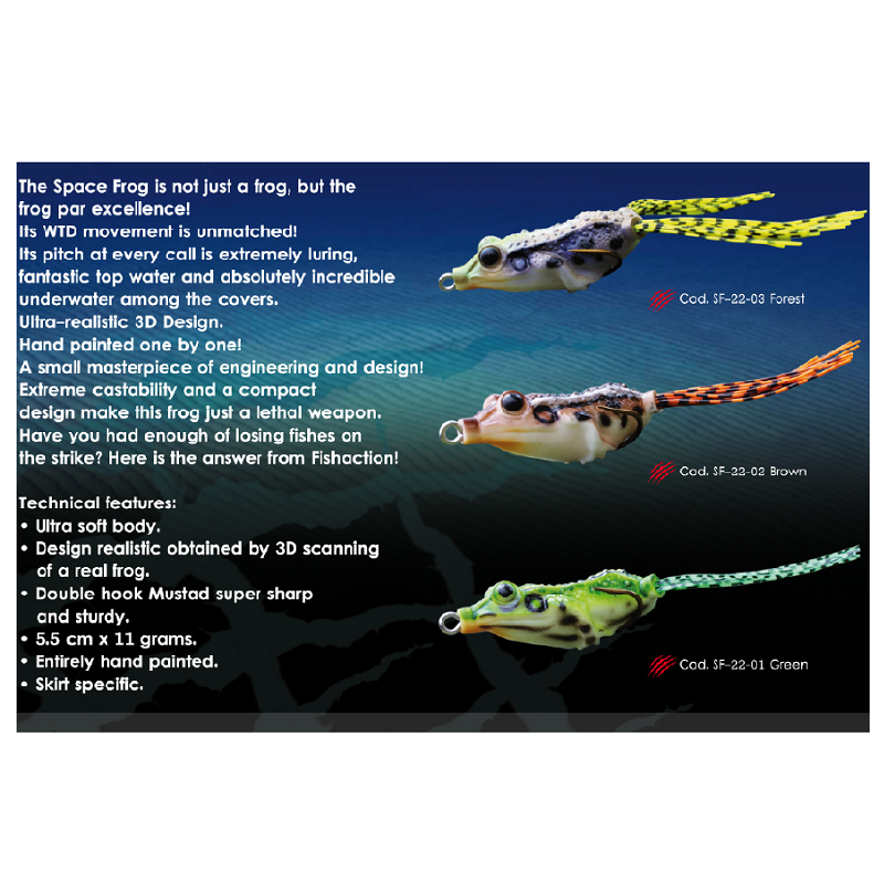 Esca Fish Action Space Frog 2,2
