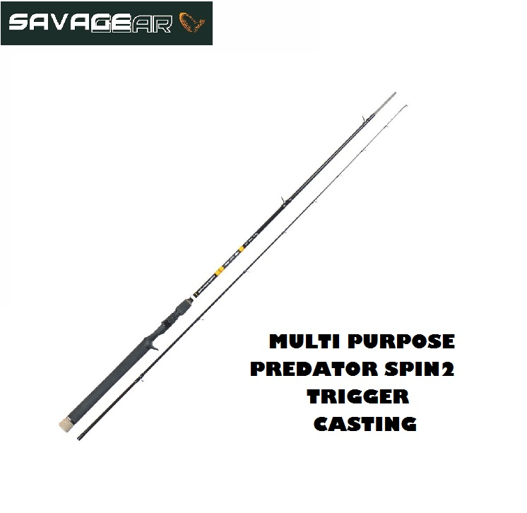 Canna Casting Savage Gear Multi Purpose Predator2 Spin 7'3'' 221 cm  Trigger 130 gr