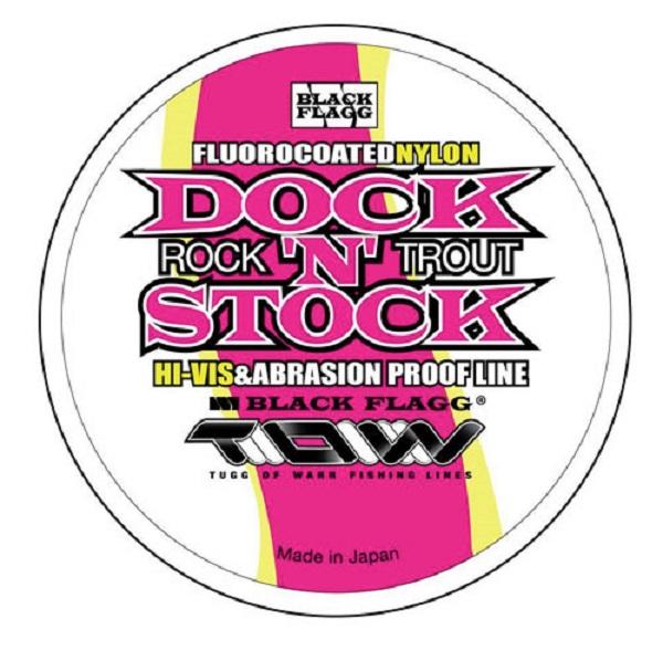 Monofilo Black Flagg Dock'N'Stock Fluorocoated nylon