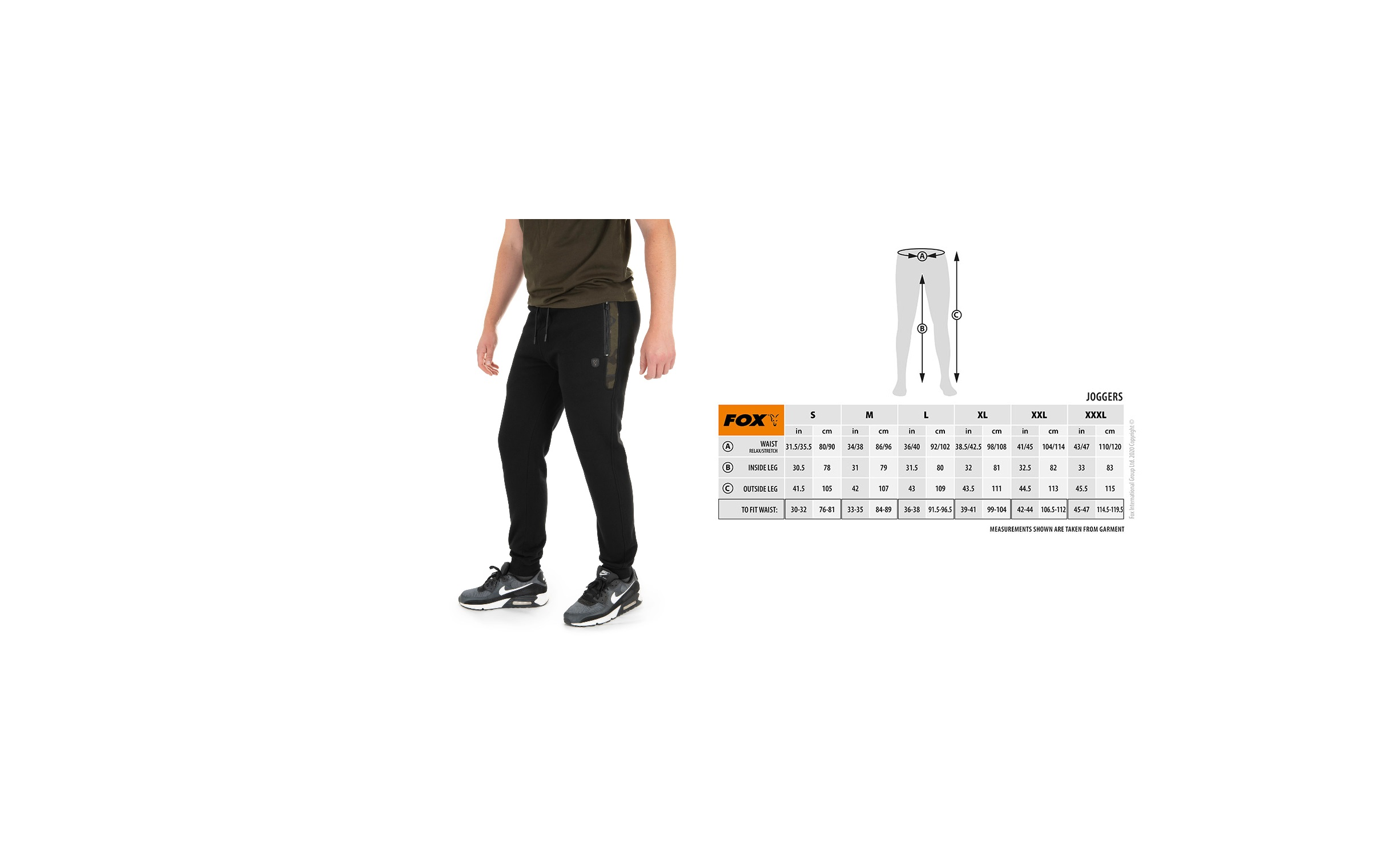 Pantaloni Jogger Fox Nera Camo Medium cod CFX086