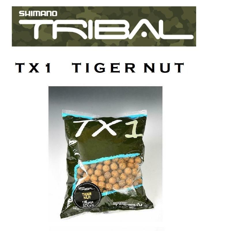 Boilies Shimano TX1 TIGER NUT BOILIES 20mm  1 kg  cod  TX1TNB201000