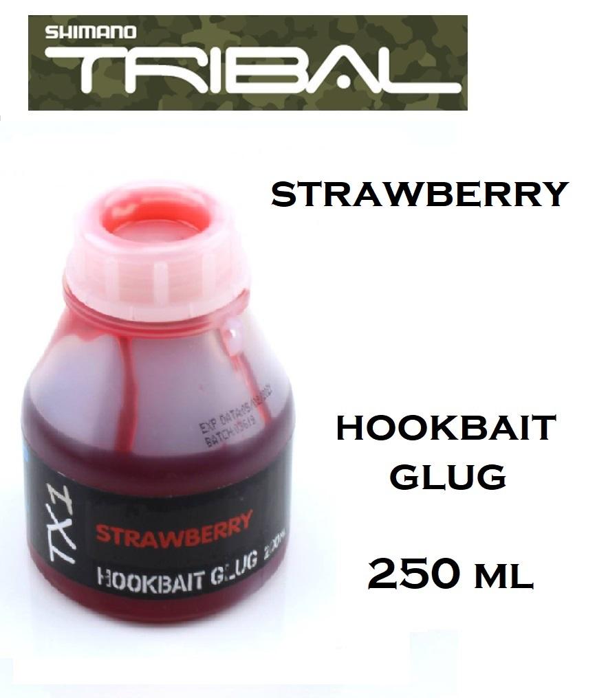 Liquido Shimano TX1 Strawberry  hookbait glug 250 ml cod TX1SBHB250