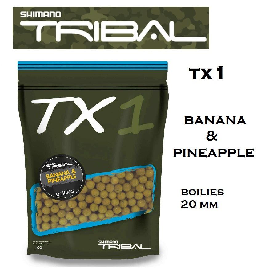 Boilies Shimano TX1 BANANA & PINEAPPLE 20mm 1 kg codTX1BPB201000