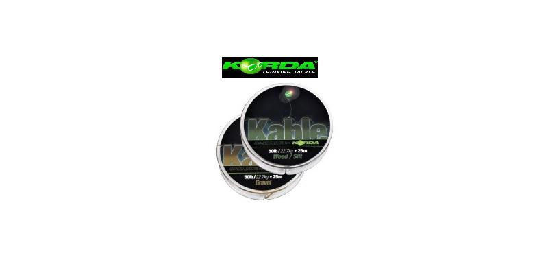 Filo Korda Kable Leadcore weed/Silt 25 mt cod KABWG