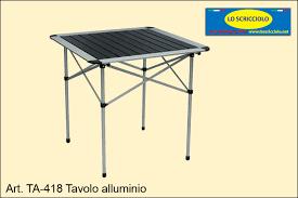 Tavolo alluminio Lo Scricciolo