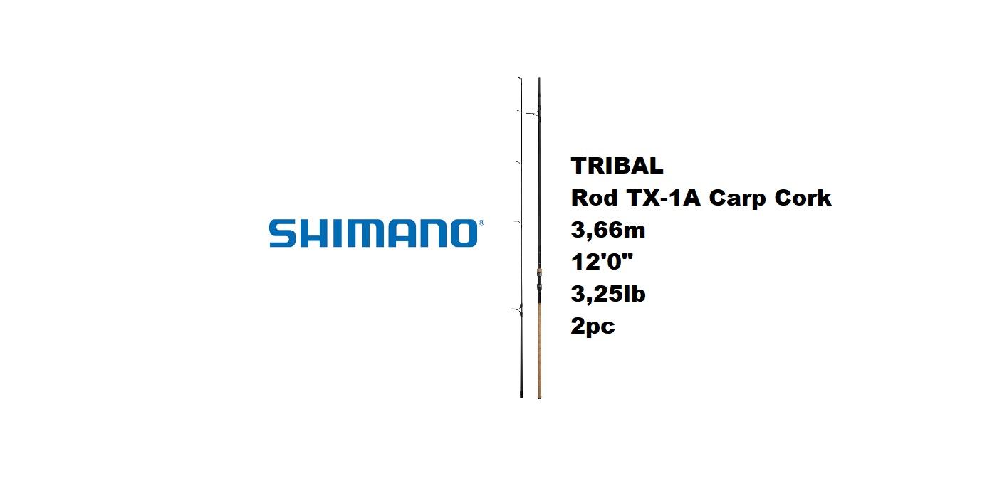 """Canna Shimano Rod TX-1A Carp Cork 3,66m 12'0"""" 3,25lb 2pc  TX1A12325SPC"""