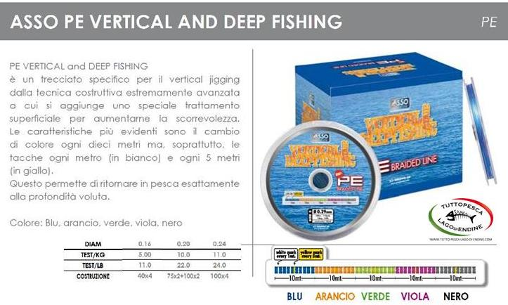 Filo trecciato Asso Vertical and Deep Fishing