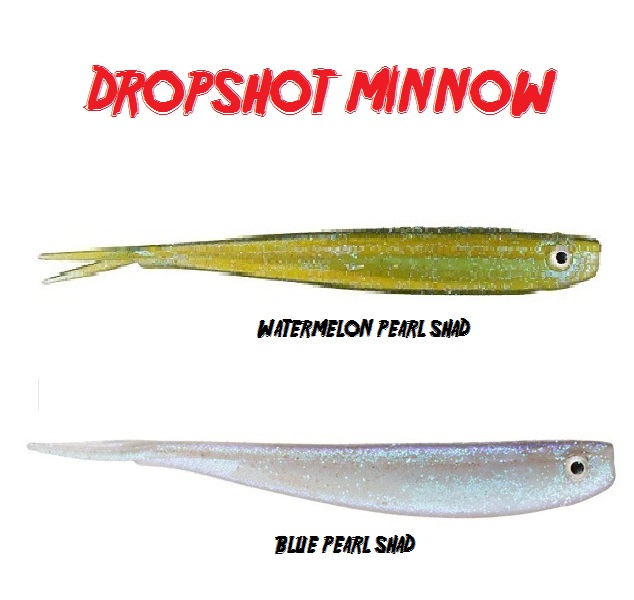 Minnow Powerbait Dropshot 3 pollici